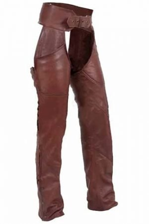 brown leather womens motorcycle chaps