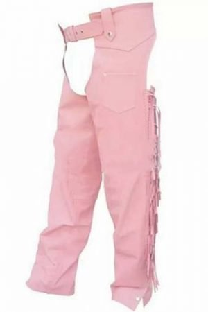 Pink Leather Chaps
