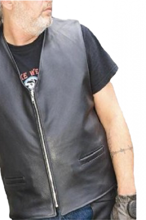 soft leather motorcycle vest
