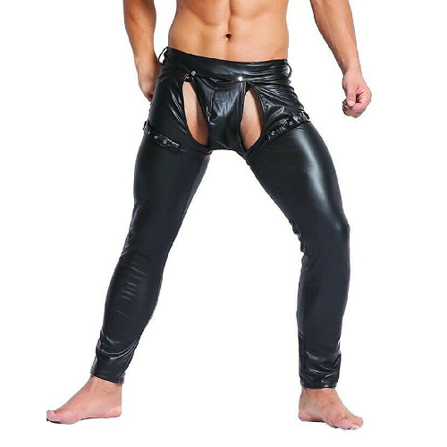 black leather chaps gay